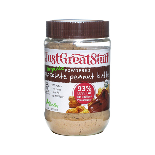 Just Great Stuff Powdered Chocolate Peanut Butter - Case of 12 - 6.43 oz