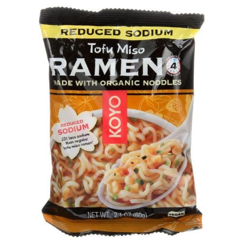 Koyo Ramen - Organic - Tofu Miso - Reduced Sodium - 2.1 oz - case of 12