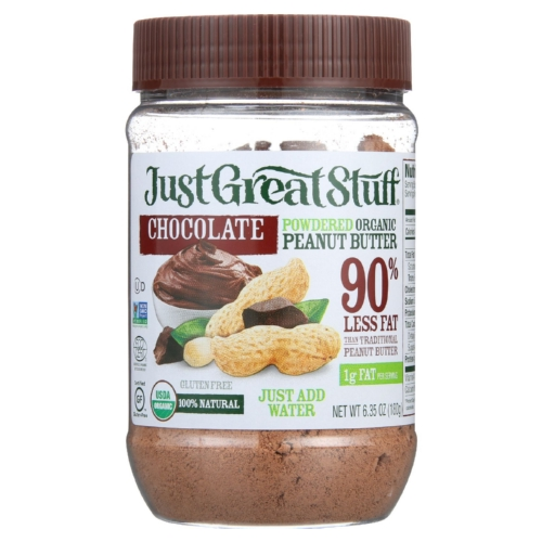 Just Great Stuff Peanut Butter - Organic - Chocolate - Powdered - 6.35 oz - 1 each