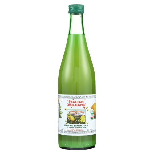 Volcano Bursts Organic Juice - Lemon - Case of 12 - 16.9 Fl oz.