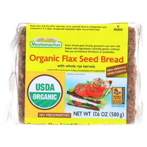 Mestemacher Bread - Organic - Flax Seed - 17.6 oz - case of 12