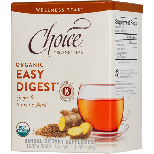 Choice Organic Teas - Organic Easy Digest Tea - 16 Bags - Case of 6