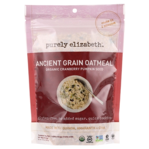 Purely Elizabeth Oatmeal - Organic - Ancient Grain - Cranberry Pumpkin Seed - 10 oz - case of 6
