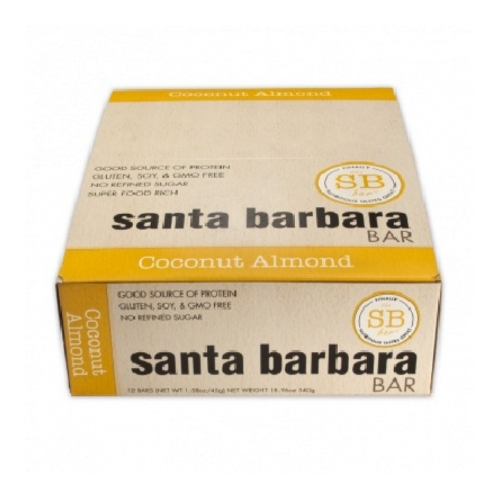 Santa Barbara Bars - Coconut Almond - Pack of 12