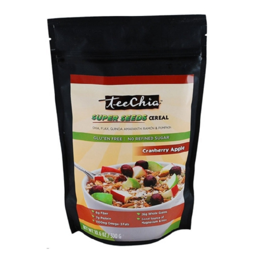 TeeChia Cereal - Super Seeds - Cranberry Apple - 10.6 oz - 1 Case