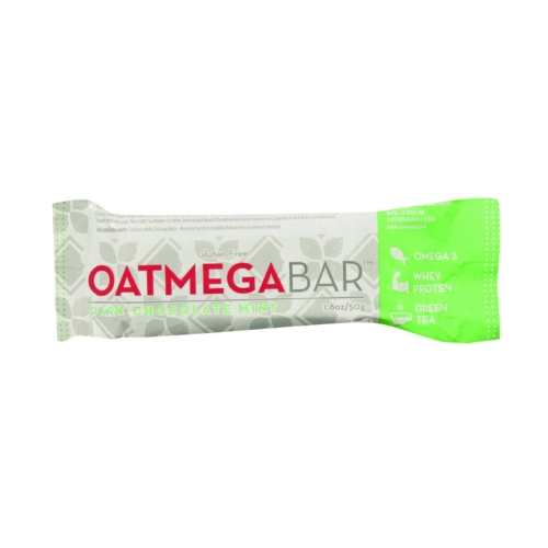 Oatmegabar Protein Bar - Dark Chocolate Mint Crisp - 1.8 oz Bars - Case of 12