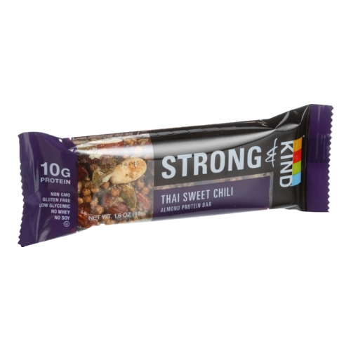 Strong and Kind Bar - Sweet Chili Almond - 1.6 oz Bars - Case of 12