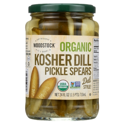 Woodstock Pickles - Organic - Kosher Dill - Spears - 24 oz - case of 6