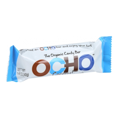 Ocho Candy Organic Candy Bar - Coconut - 1.4 oz - Case of 18