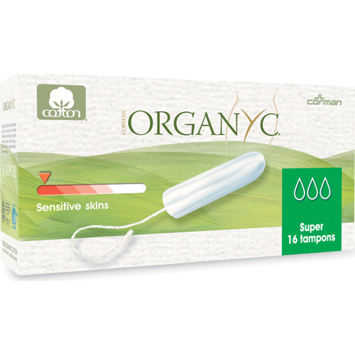 Organyc Tampons - 100 Percent Organic Cotton - Super - Non Applictr - 16 ct