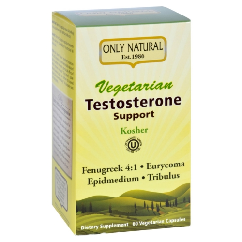 Only Natural Testosterone Support - Vegetarian - 60 Vegetarian Capsules
