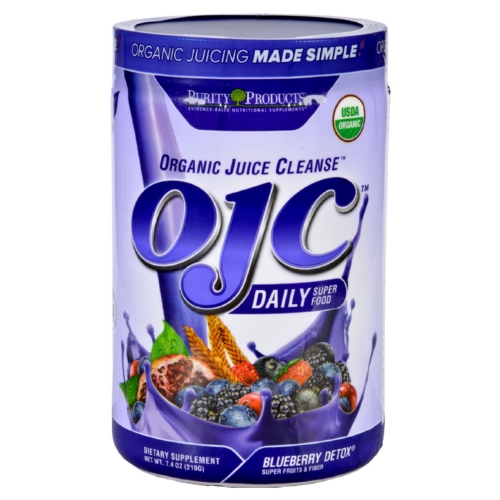 OJC-Purity Products Organic Juice Cleanse - Certified Organic - Advanced Daily Fiber Formula - Blueberry Detox - 7.4 oz