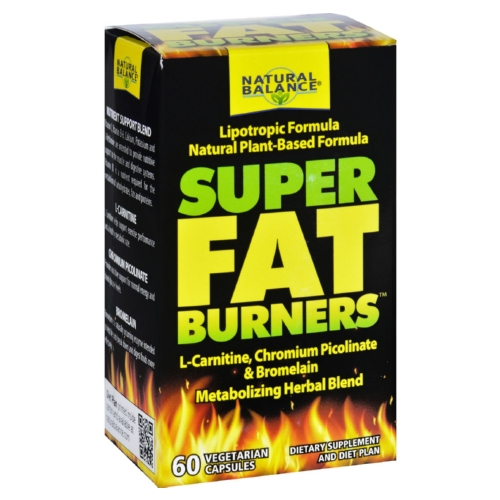 Natural Balance Super Fat Burners - 60 Vegetarian Capsules