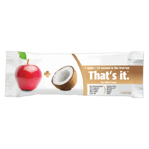 Thats It Fruit Bar - Apple and Coconut - Case of 12 - 1.2 oz