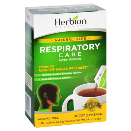 Herbion Naturals Respiratory Care - Natural Care - Herbal Granules - Lemon - 10 Packets