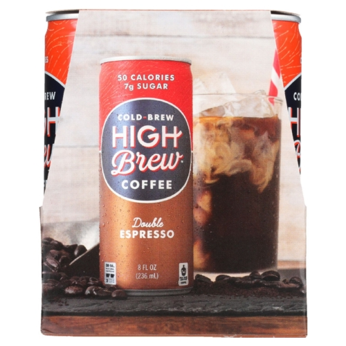 High Brew Coffee Coffee - Ready to Drink - Double Espresso - 4/8 oz - case of 6