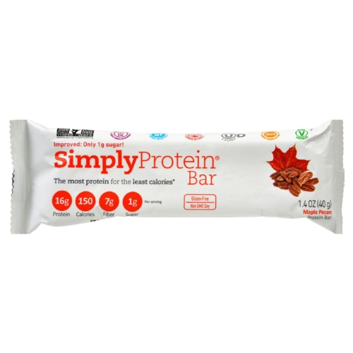 SimplyProtein Protein Bar - Maple Pecan - 1.41 oz - Case of 12