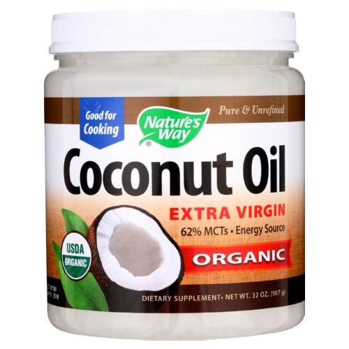 Natures Way Coconut Oil - Extra Virgin - Case of 1 - 32 oz.