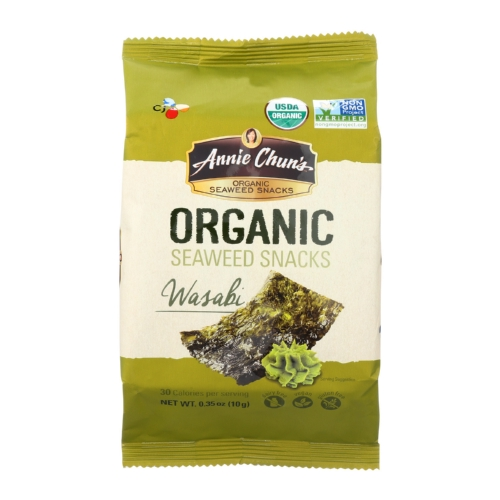 Annie Chuns Organic Seaweed Snacks Wasabi - Case of 12 - 0.35 oz.