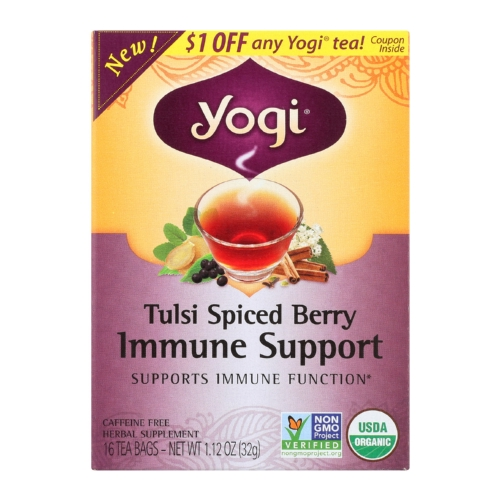 Yogi Echinacea - Immune Support - Case of 6 - 16 Bags
