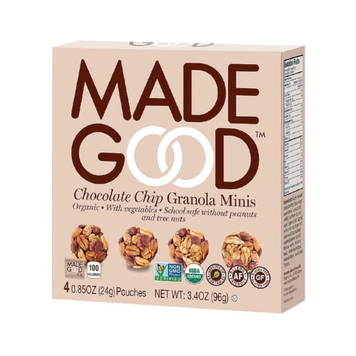 Made Good Granola Minis - Chocolate Chip - Case of 6 - 3.4 oz.