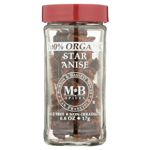Morton and Bassett Star Anise - Organic - Case of 3 - 0.6 oz.