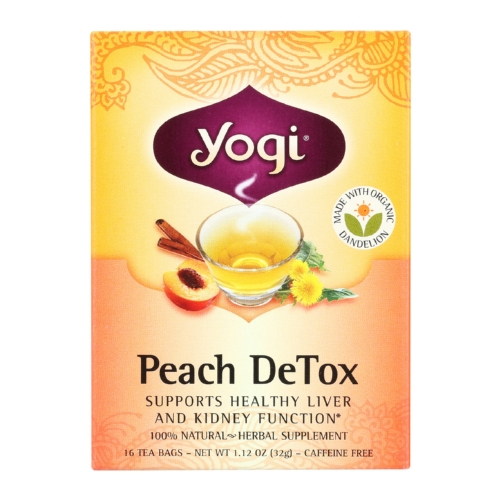 Yogi Detox - Peach - Case of 6 - 16 Bags
