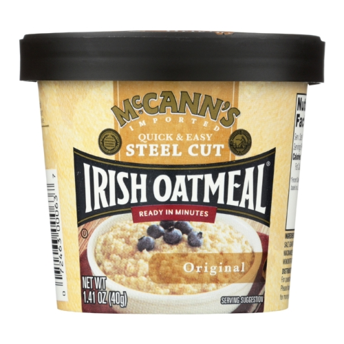 Mccanns Irish Oatmeal Instant Oatmeal Cup - Original - Case of 12 - 1.41 oz
