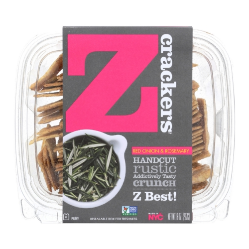 Z Crackers - Red Onion and Rosemary - Case of 12 - 8 oz