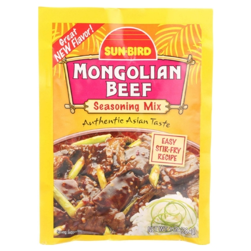 SunBird Seasoning Mix - Mongolian Beef - 1 oz - case of 24