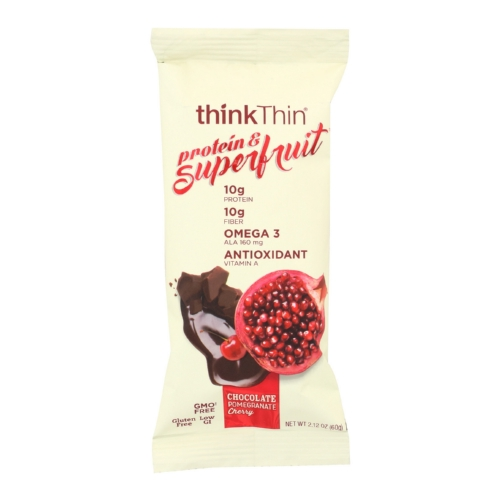 Think! Thin Protein  Superfruit - Chocolate Pomegranate Cherry - Case of 9 - 2.1 oz