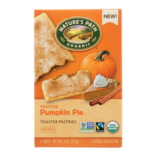 Natures Path Toaster Pastry - Organic - Pumpkin - Case of 12 - 11 oz