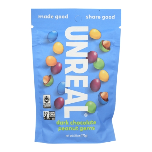 Unreal Dark Chocolate Peanut Gems - 6 Bags