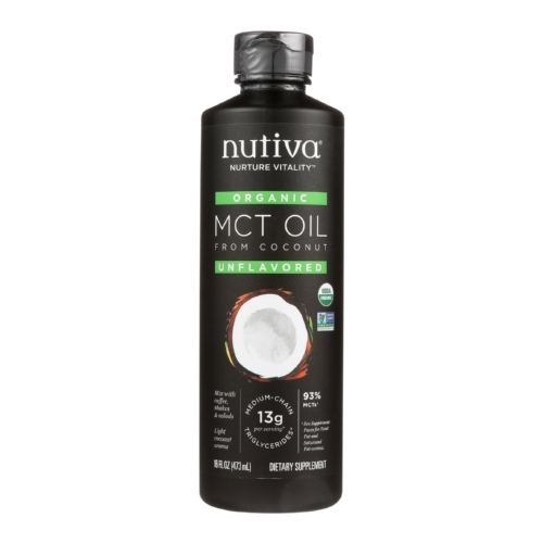 Nutiva 100 Organic Mct Oil - From Coconut - Unflavored - 16 fl oz