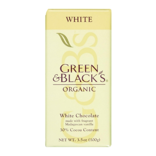 Green and Blacks Organic Chocolate Bars - White Chocolate - 30 Percent Cacao - 3.5 oz Bars - Case of 10