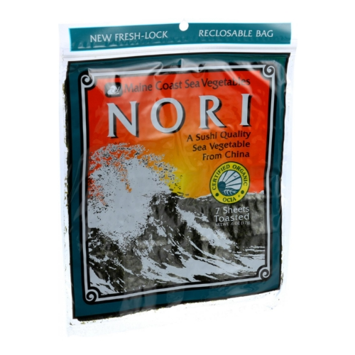 Maine Coast Organic Sea Vegetables - Sushi Nori Sheets - Toasted Chinese - .6 oz