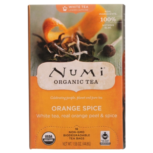 Numi Tea Tea - Organic - White - Orange Spice - 16 bags - case of 6