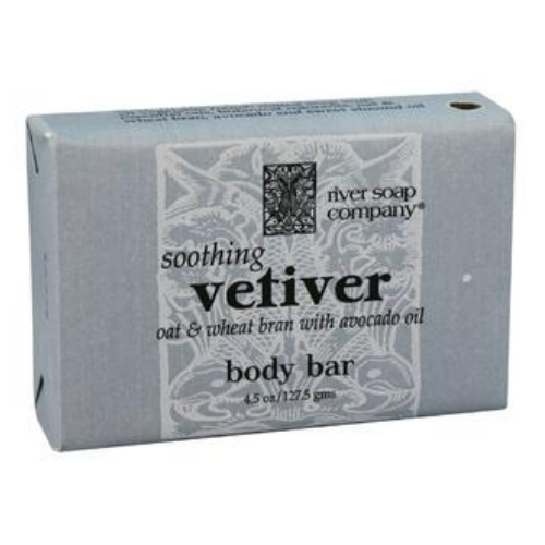 River Soap Company Bar Soap - Vetiver Avocado - Case of 1 - 4.5 oz.