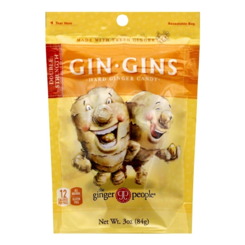 The Ginger People Gin Gins Hard Candy Bag - Case of 1 - 3 oz.