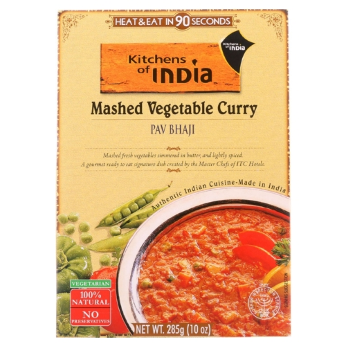 Kitchen Of India Dinner - Mashed Vegetable Curry - Pav Bhaji - 10 oz - case of 6