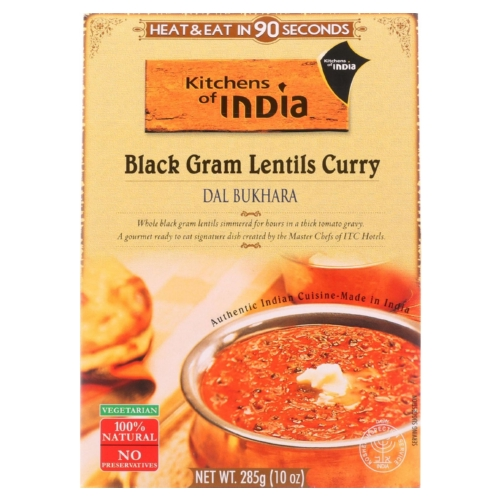 Kitchen Of India Dinner - Black Gram Lentils Curry - Dal Bukhara - 10 oz - case of 6