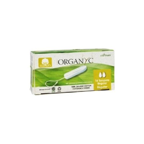 Organyc Tampon - 100 Percent Organic Cotton - Non-Applicator - Regular - 16 Count