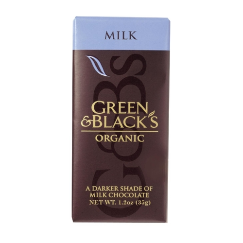 Green and Blacks Organic Chocolate Bars - Milk Chocolate - 34 Percent Cacao - Impulse Bars - 1.2 oz - Case of 20