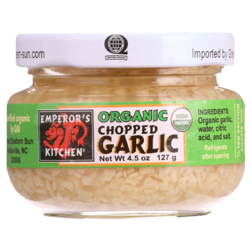 Emperors Kitchen Garlic - Organic - Chopped - 4.5 oz - case of 12