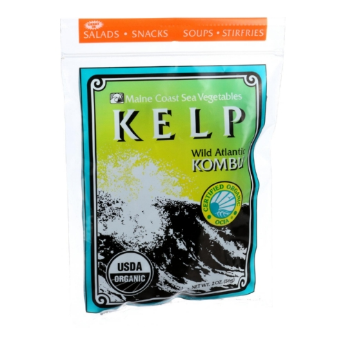Maine Coast Organic Sea Vegetables - Kelp - Wild Atlantic Kombu - Whole Leaf - 2 oz