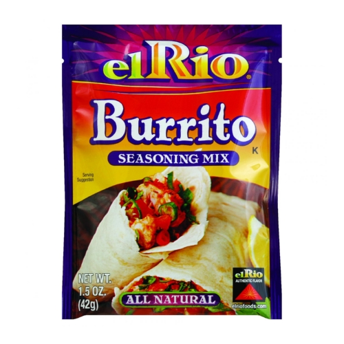 El Rio Seasoning Mix - Burrito - 1.5 oz - Case of 20