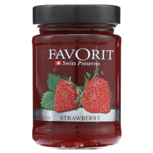 Favorit Preserves - Swiss - Strawberry - 12.3 oz - case of 6