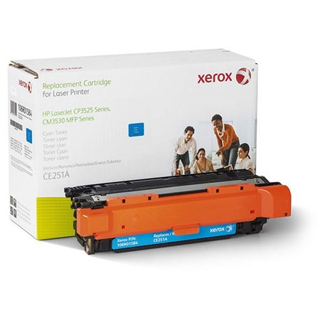 Xerox Remanufactured Cyan Toner Cartridge (Alternative for HP CE251A 504A)