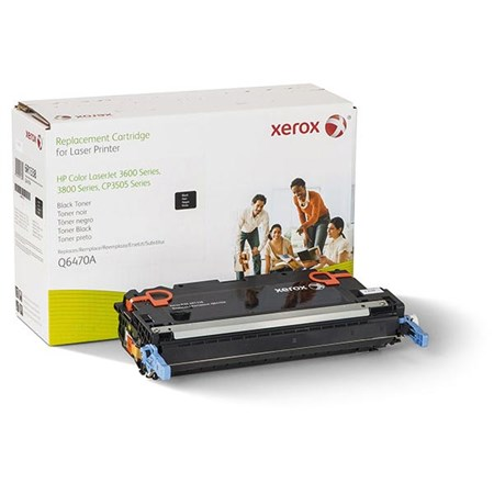 Xerox Remanufactured Black Toner Cartridge (Alternative for HP Q6470A 501A)