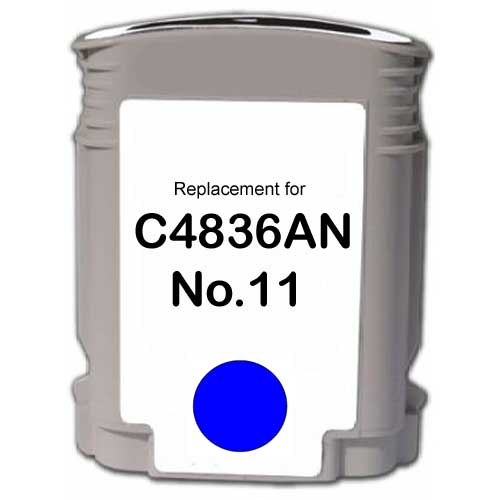 Cyan Inkjet Cartridge compatible with the HP (HP11) C4836AN